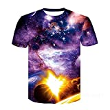 Camisetas Estampadas en 3D ST para Hombres y Mujeres Camisetas con Estampado 3D Stars Sky Cool T -Shirts Boys Girls Fashion Streetwear Tops