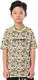Cressi Rash Guard Short Jr Camiseta Protectora en Tejido elástico Especial, Unisex-Youth, Aqua Pets 03, Años 7/8 Altura 128 cm