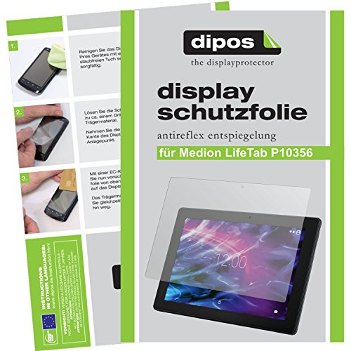 dipos I 2X Schutzfolie matt kompatibel mit Medion Lifetab P10356 Folie Bildschirmschutzfolie