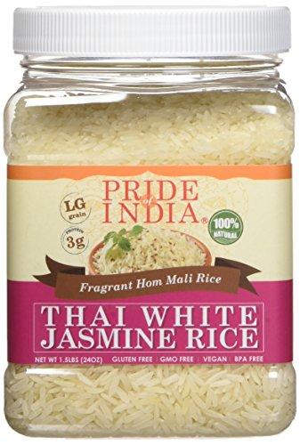 El orgullo de la India tailandés fragante jazmín blanco Hom Mali de...