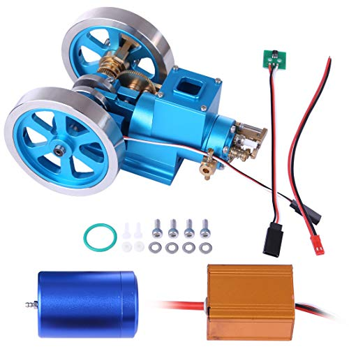 Yavso Hit and Miss Motor, Stirlingmotor Metall Verbrennungsmotor Hit & Miss Gas Engine Stem Spielzeug Geschenk