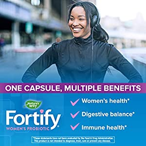 Nature's Way Fortify Women's Extra Strength Daily Probiotic, 50 Billion Live Cultures, 11 Strains, 30 Capsules