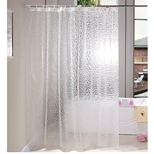 HM&DX Wasserdichter duschvorhang Mit Ringe, Antischimmel Singt Badvorhänge Transparent für Bad Hotel-Weiß 240cmx180cm (94\'\'x71\'\')