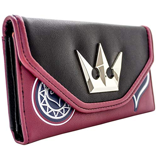 Kingdom Hearts Silberne Krone Rot Portemonnaie Geldbörse