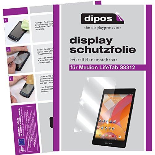 dipos I 2X Schutzfolie klar kompatibel mit Medion Lifetab S8312 (MD 98989) Folie Displayschutzfolie