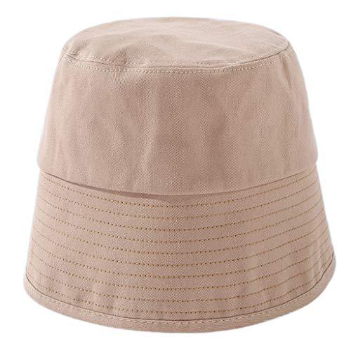 Sombrero de cúpula de algodón de color sólido para mujer con parte trasera dividida de ala ancha pescador Cap.mamá regalo día de la madre regalo de Pascua
