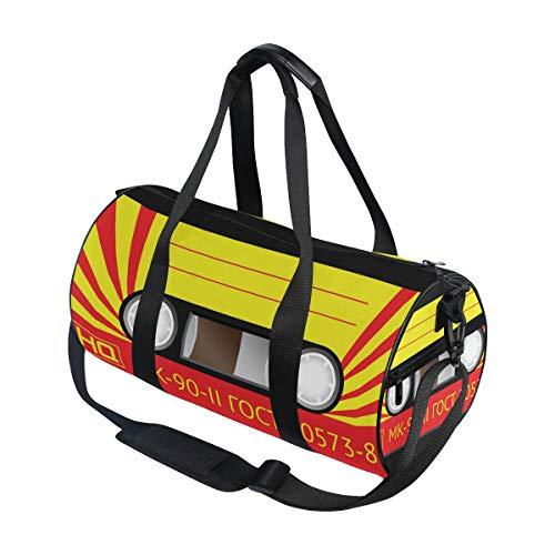 Bolsa de viaje deportiva con cinta de casete para hombres y mujeres