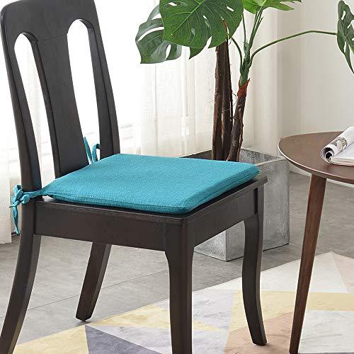 Balcony&Falcon Juego de 2 cojines de silla de esponja, 1 cojín de silla de tela exquisita, 1 cojín para silla, cojín acolchado para sillas en casa y jardín, colección de varios colores