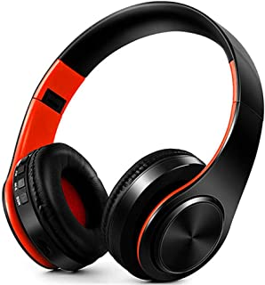 MDHANBK Auriculares Bluetooth Plegables, Auriculares de música inalámbricos estéreo Bluetooth 5.0 HiFi, Auriculares portát...