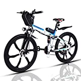 VIVI Bicicleta Electrica Plegable 350W Bicicleta Eléctrica Montaña, Bicicleta Montaña Adulto Bicicleta Electrica Plegable con Rueda Integrada de 26', Batería de 8 Ah, 32 km/h Velocidad MÁX