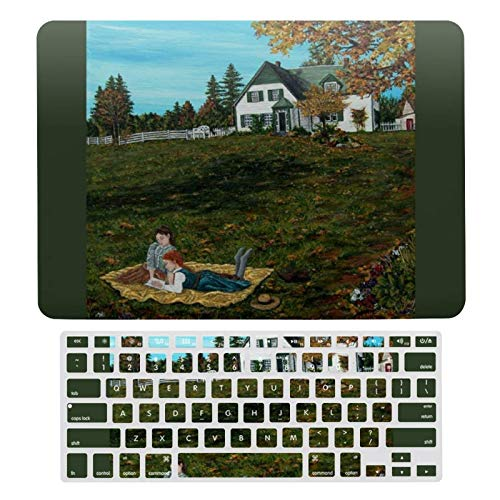 Plastic Hard Shell Case & Keyboard Cover Compatible with MacBook air 13 InchModels: A1466, A1369), Anne of Green Gables Kindred Spirits Laptop Keyboard Membrane Protective Shell Set