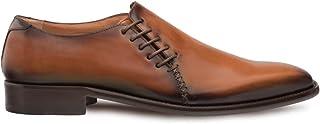 حذاء Mezlan Nicos - أربطة فخمة للرجال، مصنوعة يدويًا في إسبانيا، عرض متوسط، مصنوع من الجلد، مثالي للارتداء في المناسبات ال...