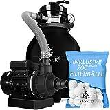 KESSER® Sandfilter Sandfilteranlage + 700g Filterbälle ersetzen 25kg...