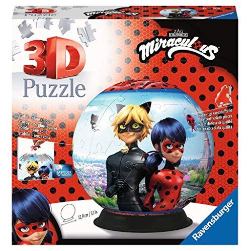Ravensburger 4005556111671 Rond 72 pièces-Miraculous 3D-Puzzle