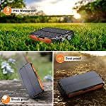 Cocoda Solar Charger, 25000mAh Solar Power Bank with 2 Ultra Bright Flashlights, Portable Solar Panel Charger with 2…