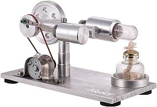 طراز محرك أيبيكي ستيريلينج، محرك محرك استيريلينغ بالهواء الساخن نموذج مولد طاقة كهرباء مع ليد فيزياء تعليمية، هدية يوم ميلاد