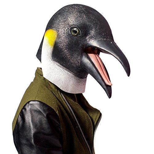 PartyCostume Máscara de Cabeza Animal de Látex de Fiesta de TrajeLujo de Halloween de Los Pingüinos