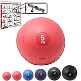 POWRX - Slam Ball Palla Medica 3-20 kg - (5 kg/Rosso)