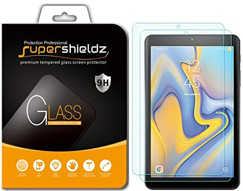 (2 Pack) Supershieldz for Samsung Galaxy Tab A 8.0 inch (2018) (SM-T387 Model) Tempered Glass Screen Protector Anti Scratch, Bubble Free