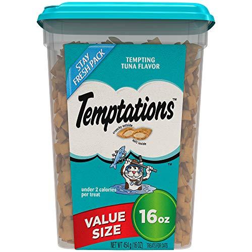 TEMPTATIONS Classic Cat Treats, Tempting Tuna Flavor, 16 oz. Tub