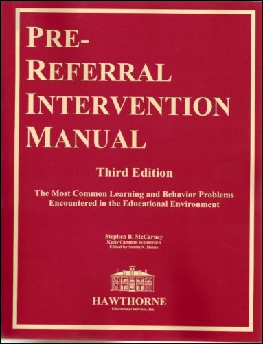Pre-Referral Intervention Manual Third Edition
