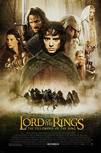 LORD OF THE RINGS FELLOWSHIP OF THE RING MOVIE POSTER 2 Sided ORIGINAL FINAL 27x40