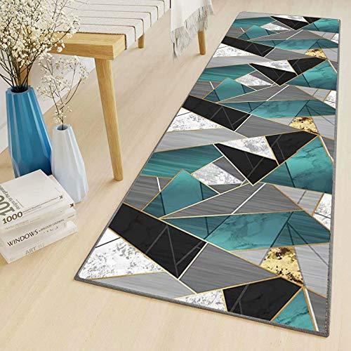 LYYK tappeti passatoia corridoio Moderno Antiscivolo Lavabile Antimacchia Motivo Geometrico Tappeto Runner Corsia da Cucina per Corridoio Ufficio Entr