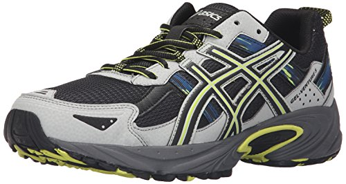 ASICS Men's Gel-Venture 5 Trail Runner, Dark Steel/Black/Neon Lime, 9 M US
