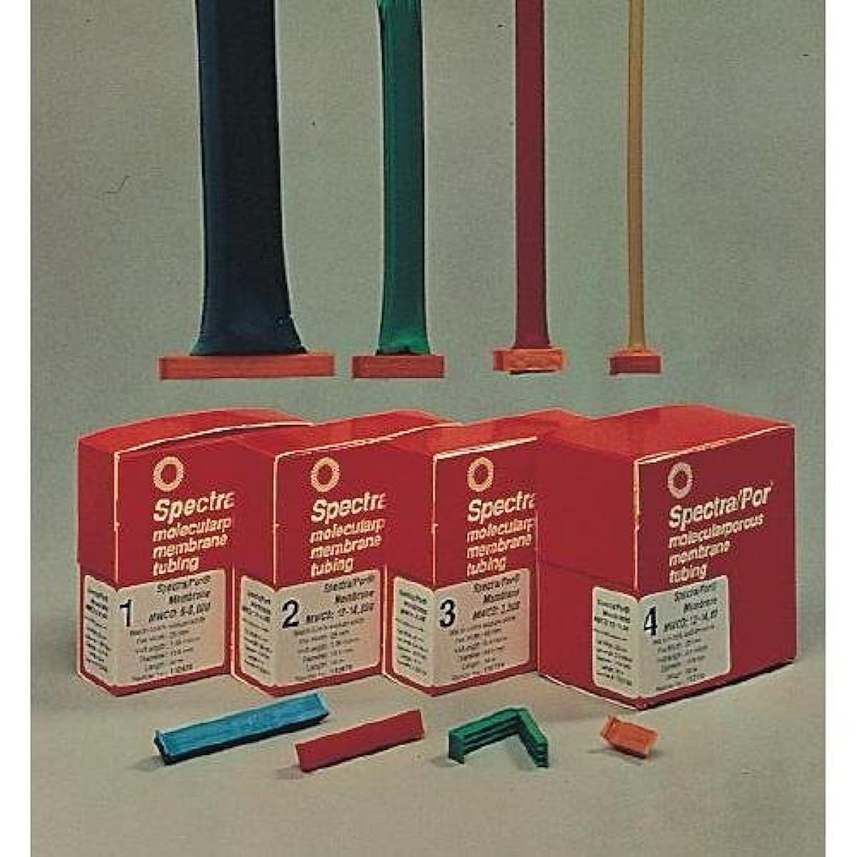 Spectrum 132709 Spectra/Por 4 Dialysis Tubing, 12-14 kD MWCO, 75 mm Flat-Width, 48 mm Diameter