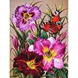 Taladro cuadrado diamante pintura taladro flor decoración de la pared diamantes de imitación bordado mosaico mariposa 5D hecho a mano decoración de la pared de la habitación 50x40cm