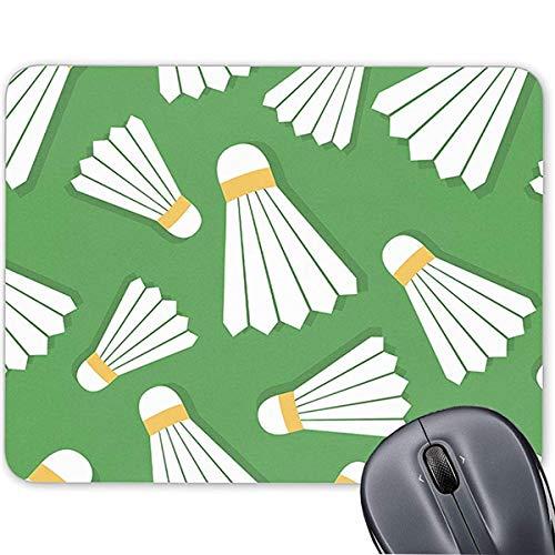 Mauspad für Computer/Notebook/Mac, rutschfeste Gummiunterseite, Badminton-Federbälle 19,1 x 23,4 cm