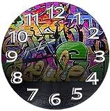 Life is but a span Runde Wanduhr Regal Uhr Neuheit Graffiti Wand gedruckt für Home Office Office Schule Dekor Flüstern 9,84 Zoll