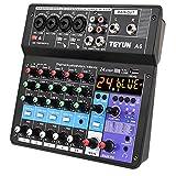 AERJMA 6-Channel Studio Mixer Audio - Live Broadcast Equipment Scheda audio All-in-one macchina multifunzione Telefono Mobile Computer Effetto di miscelazione