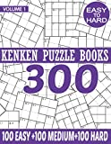 Kenken Puzzle Books Volume 1: 300 Logic Puzzles With Solutions That Make You Smarter.