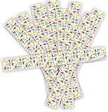 Logbuch-Verlag - 10 adesivi pasquali colorati, 5 x 42 cm, uova di Pasqua + cuori