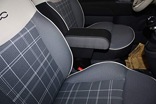 filocar Design Armrest Seat Leon in Faux Leather Black