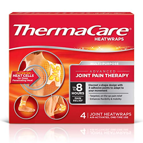 ThermaCare Advanced Multi-Purpose Joint Pain Therapy Heatwraps, Up to 8 Hours of Pain Relief, Temporary Relief of Joint Pains, 4 Count (Pack of 1)