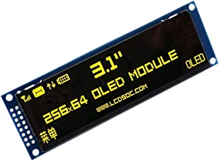 """YASE-king OLED Display 3.12"""" 256 * 64 25664 Dots Graphic LCD Module Display Screen LCM Screen SSD1322 Controller Support S..."""