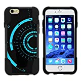 TurtleArmor   Compatible with Apple iPhone 6 Case   iPhone 6s Case [Gel Max] Dual Layer Hybrid Shock Silicone Hard Shell Case Kickstand - Blue Tron Target