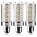 Wedna E27 LED maíz bombilla, 20W Blanco Cálido, 150W Incandescente Bombillas Equivalentes, 2000Lm, Edison tornillo bombillas, No regulable - 3 unidades