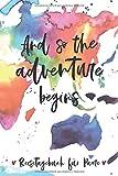 Reisetagebuch für Paare: Urlaubsreise Tagebuch für Zwei zum Ausfüllen | Für Paare inkl. Packliste | Mit Weltkarte im Aquarell-Stil | Tolles Geschenk ... ca. DIN A 5, 108 Seiten, Softcover |
