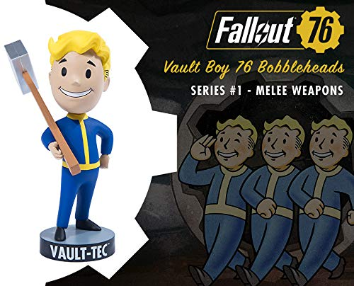 Fallout 76 Bobblehead Wackel -Figur Vault Boy Melee Weapons Material: PVC, Hersteller: The IP Factory / Gaming Heads.