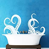 Vinyl Octopus Tentacles Wall Decal Sprut Kraken Wall Decor Ocean Sea Animal Wall Sticker Vinyl Home Art Decoration White