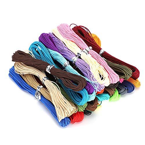 10M 1mm Cordones de algodón Encerado Cuerdas Cuerdas Cordón Encerado de poliéster Cadena de Alambre Cera Alambre de Hilo Redondo para Bricolaje Collar Pulsera Accesorios para Hacer artesanías