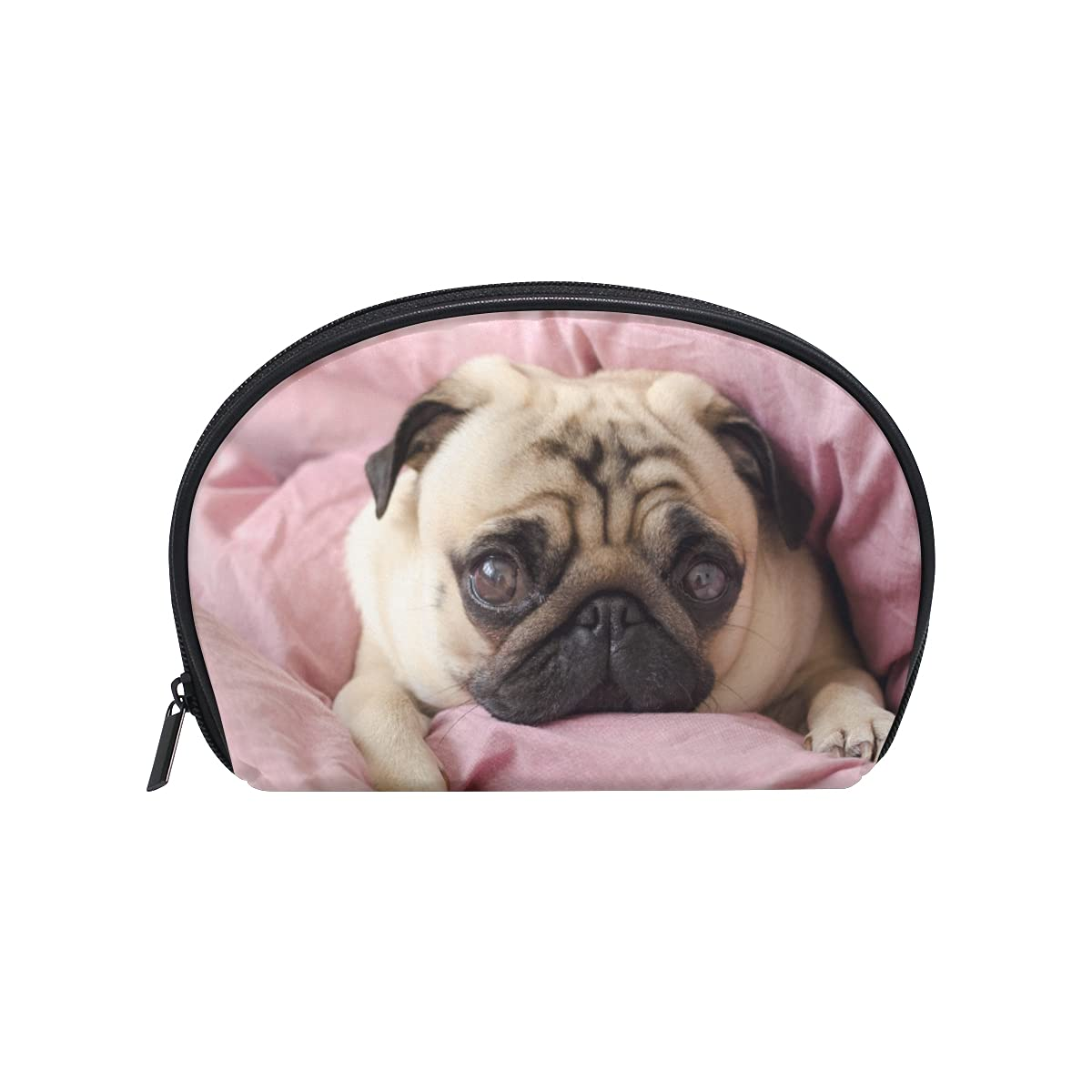OTVEE Small Cute Dog Shipping included Breed Pug Sleeping Cosmetic Port Outlet SALE Bag