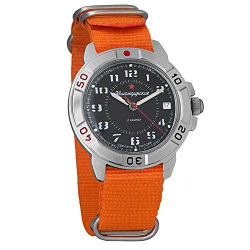 Vostok 431186 Amphibian - Reloj de Pulsera automático para Hombre, diseño de Camuflaje Militar