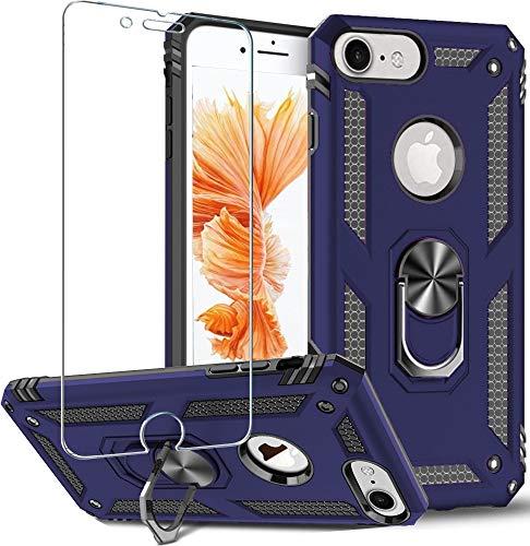 Carcasa para iPhone 8, iPhone7/6/6s, Folmeikat diseño anillo de metal giratorio de...