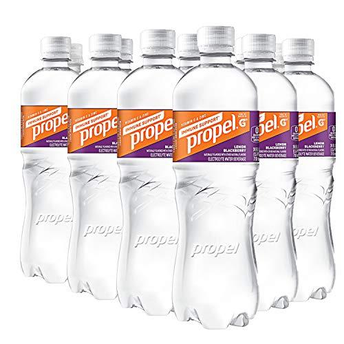 Propel Immune Support with Vitamin C + Zinc, Lemon Blackberry, 24oz Bottle, Pack of 12