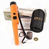 SHRXY Detector de metales de mano Puntero portátil Gold Hunter GP-POINTERII impermeable de naranja Buscador de oro ajustable con luz LED para usos de poca luz