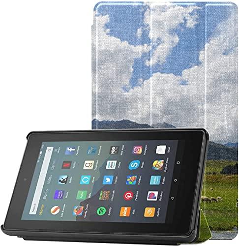 Fundas de Cubierta Kindle Fire 7 The Beautiful Alps At Sunset Fire 7 Funda de novena generación para Tableta Fire 7 (novena generación, versión de 2019) Ligera con suspensión/activación automática